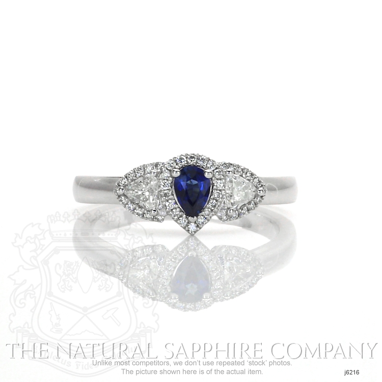 0.20ct Blue Sapphire Ring Image