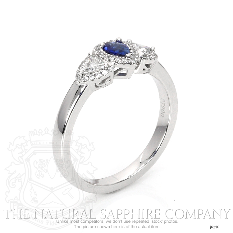 0.20ct Blue Sapphire Ring Image 2