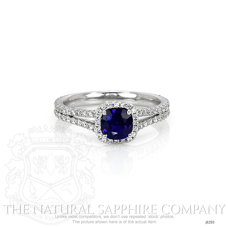 0.71ct Blue Sapphire Ring Image