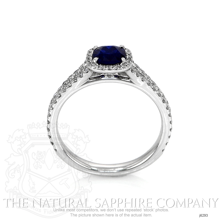 0.71ct Blue Sapphire Ring Image 4