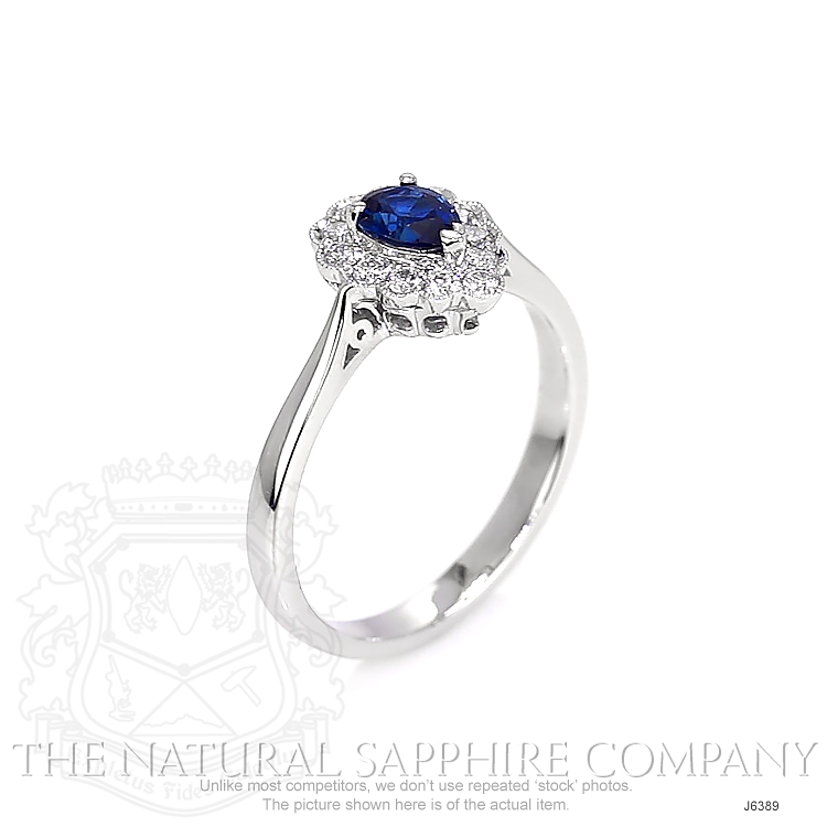 0.46ct Blue Sapphire Ring Image 2