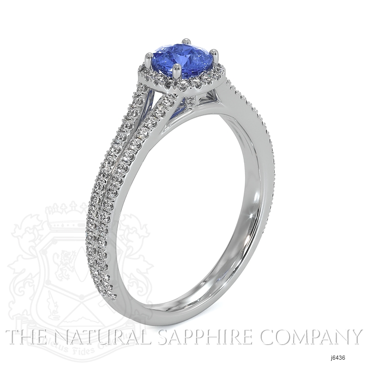 0.68ct Blue Sapphire Ring Image 2