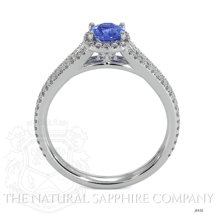 0.68ct Blue Sapphire Ring Image 4