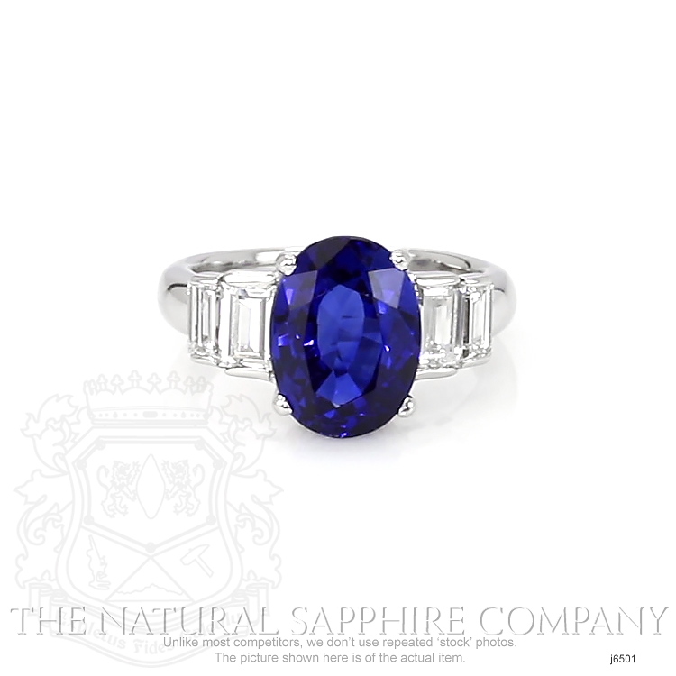 4.74ct Blue Sapphire Ring Image