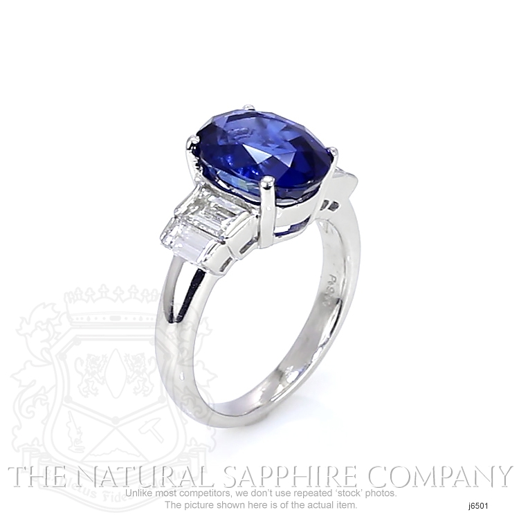 4.74ct Blue Sapphire Ring Image 2