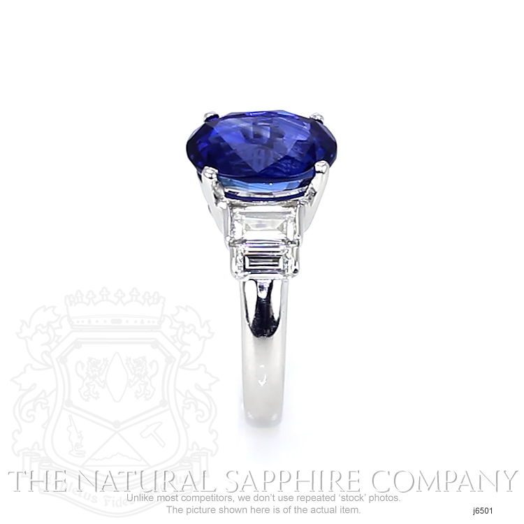 4.74ct Blue Sapphire Ring Image 3