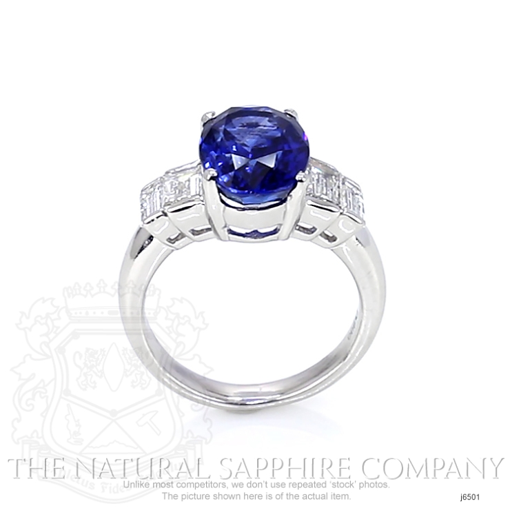 4.74ct Blue Sapphire Ring Image 4