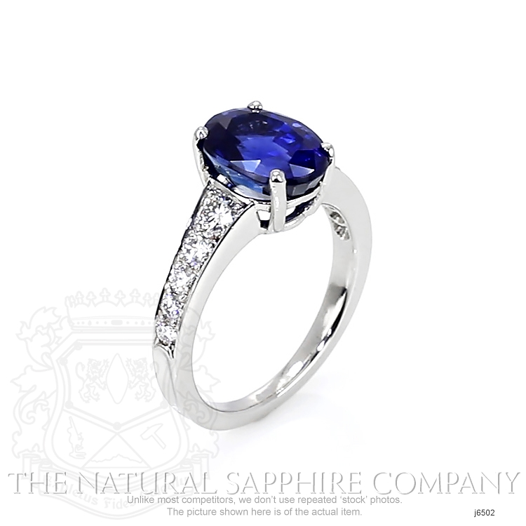 4.27ct Blue Sapphire Ring Image 2