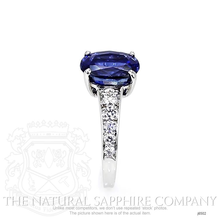 4.27ct Blue Sapphire Ring Image 3