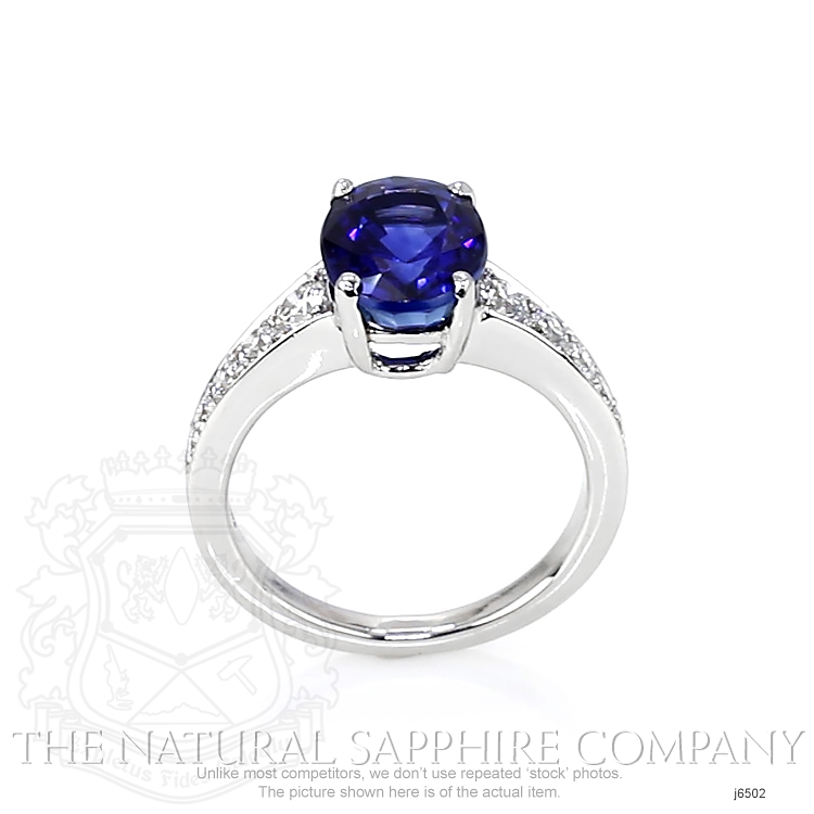 4.27ct Blue Sapphire Ring Image 4