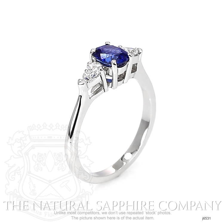 0.83ct Blue Sapphire Ring Image 2