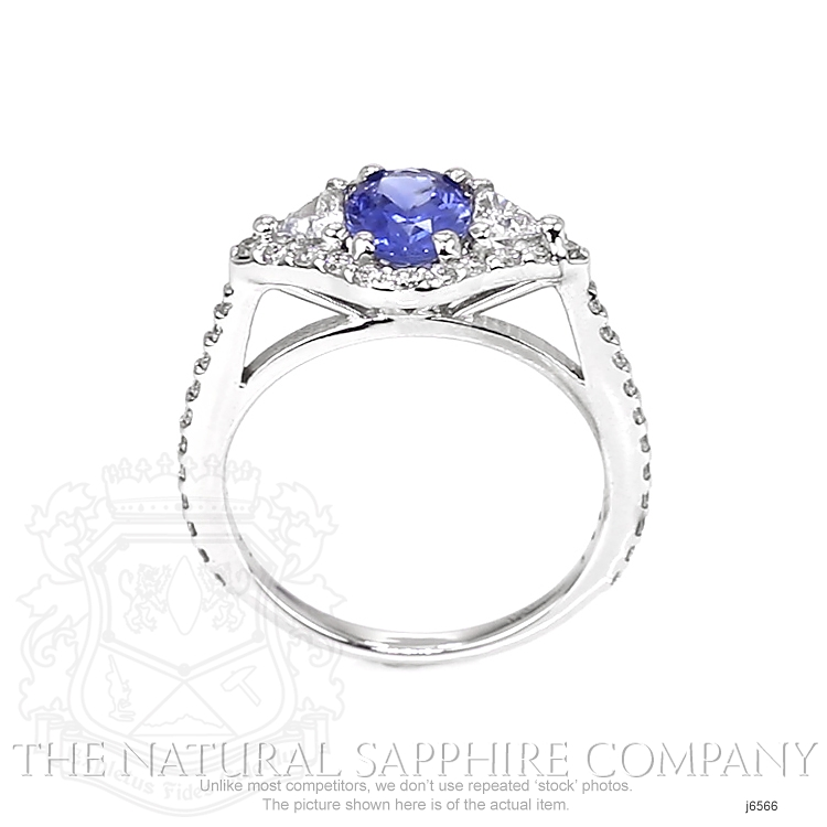 1.07ct Blue Sapphire Ring Image 4