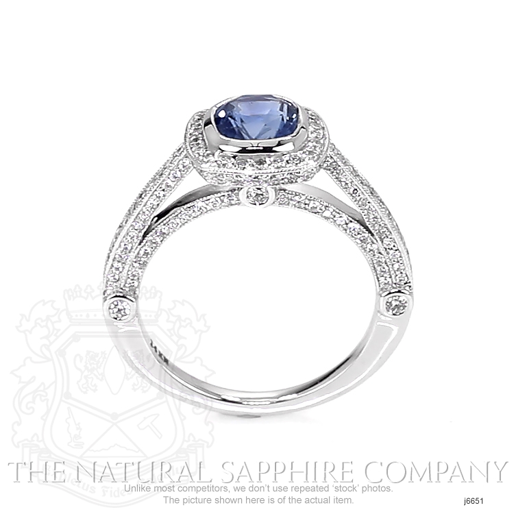 1.55ct Blue Sapphire Ring Image 4