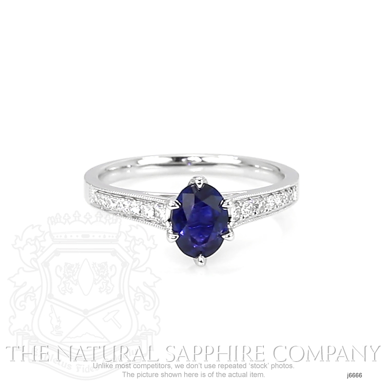 1.02ct Blue Sapphire Ring Image