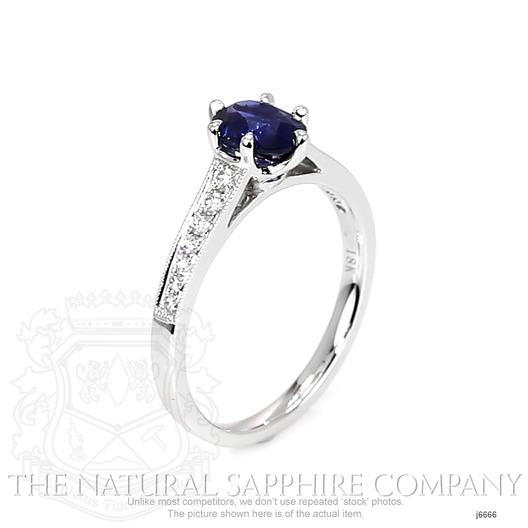 1.02ct Blue Sapphire Ring Image 2