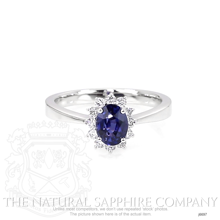 1.05ct Blue Sapphire Ring Image