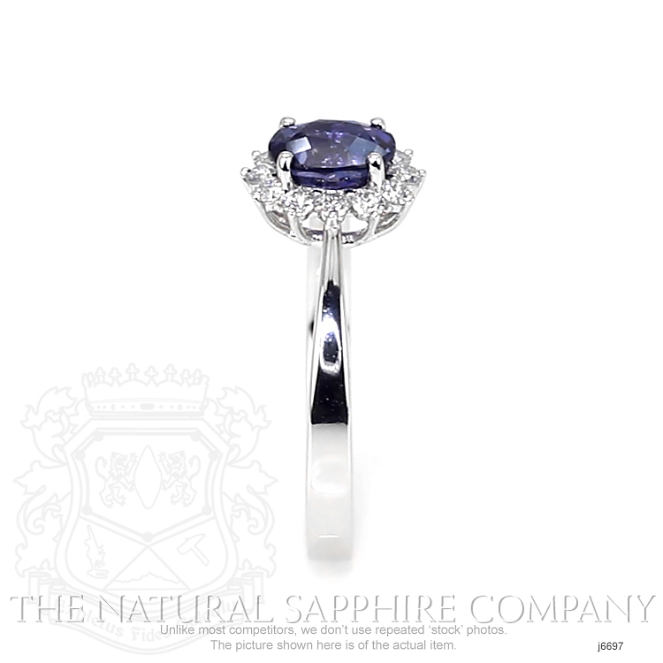 1.05ct Blue Sapphire Ring Image 3