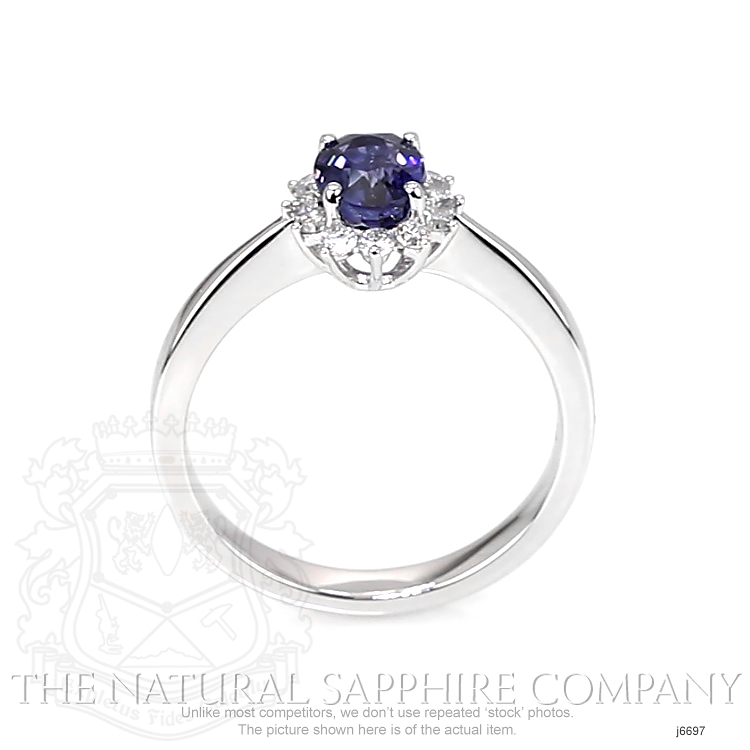 1.05ct Blue Sapphire Ring Image 4