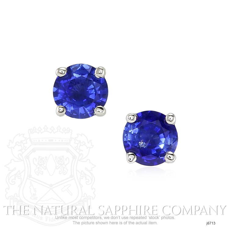 0.69ct Blue Sapphire Earring Image