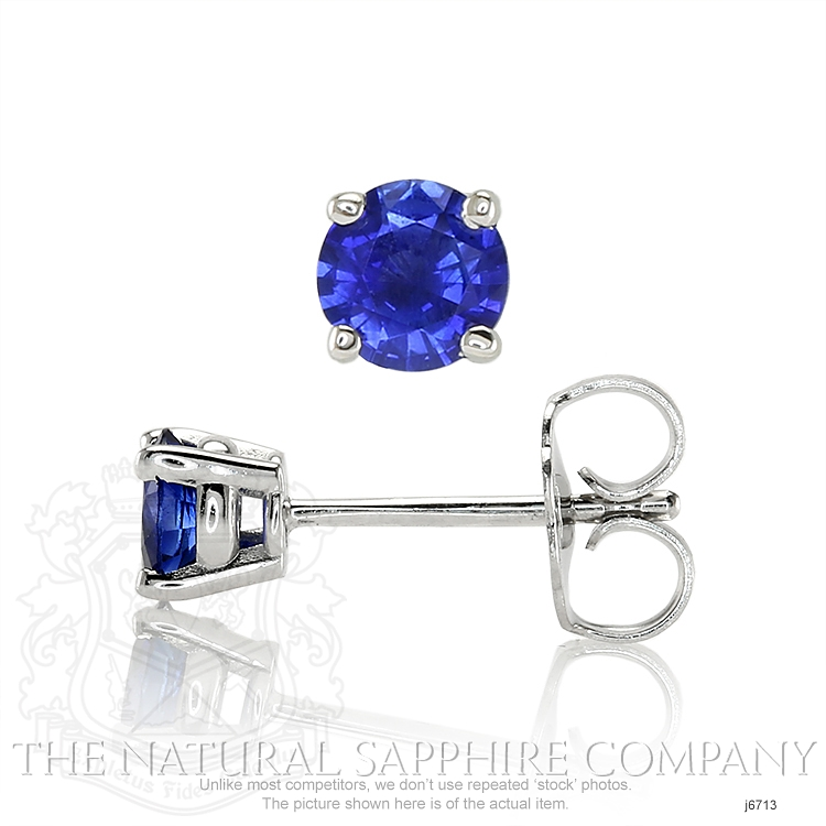 0.69ct Blue Sapphire Earring Image 2
