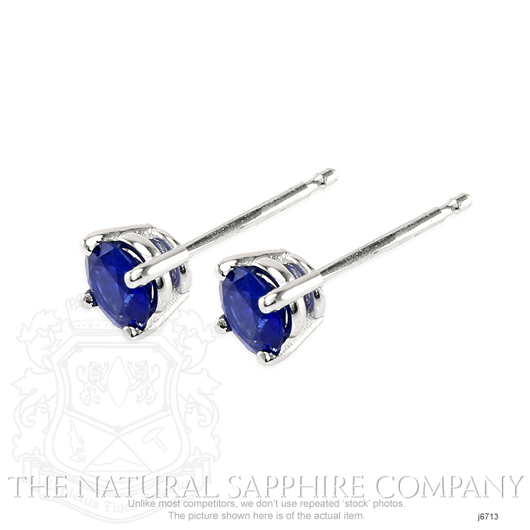 0.69ct Blue Sapphire Earring Image 3