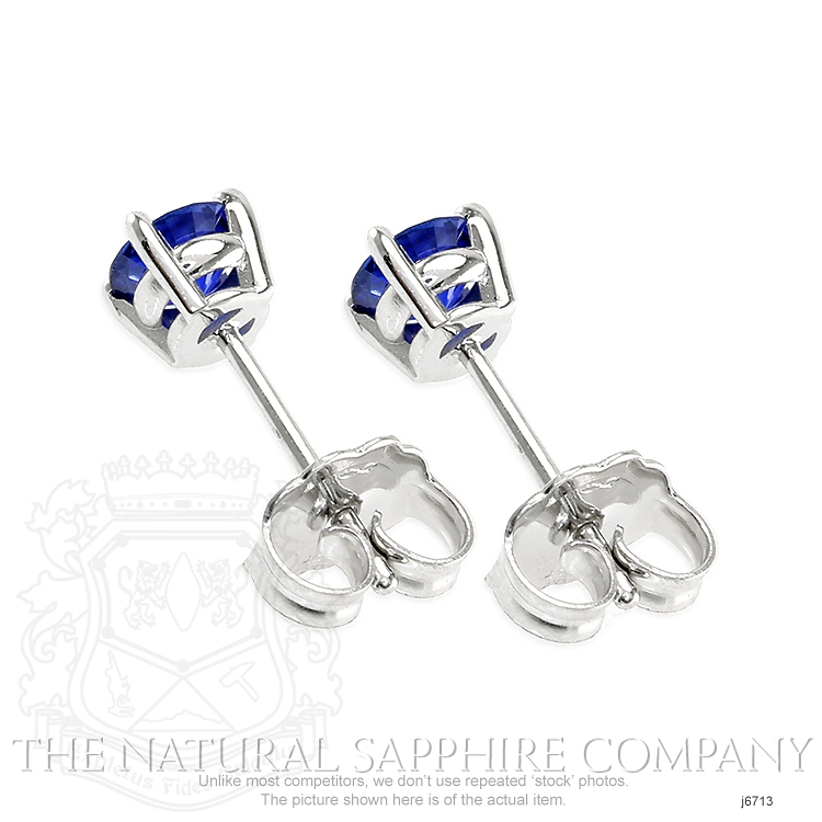0.69ct Blue Sapphire Earring Image 4