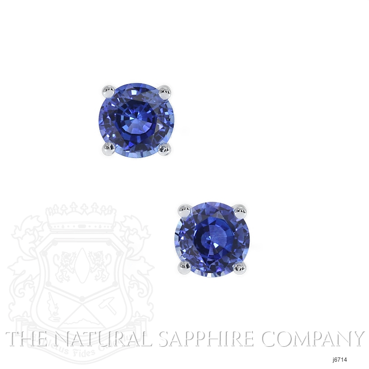 0.60ct Blue Sapphire Earring Image