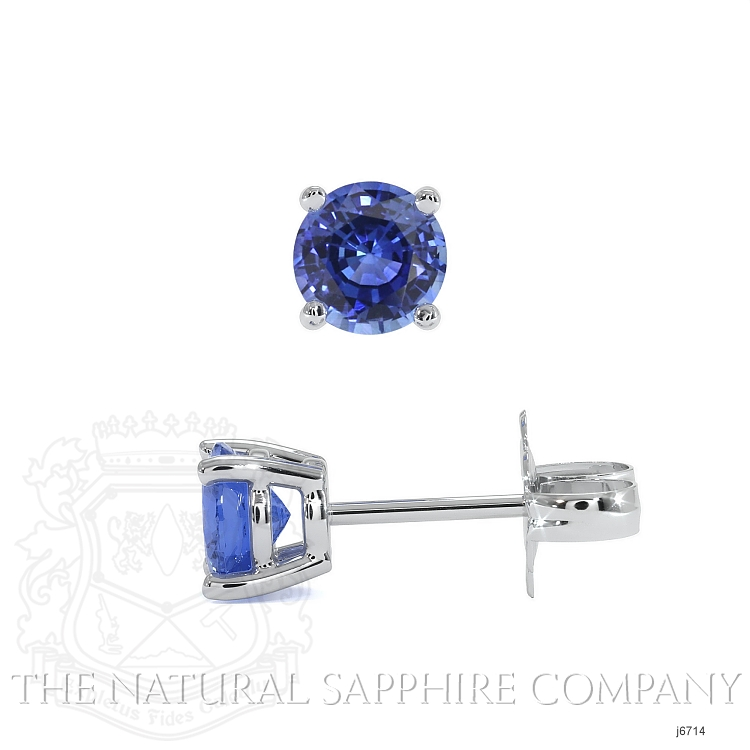 0.60ct Blue Sapphire Earring Image 2
