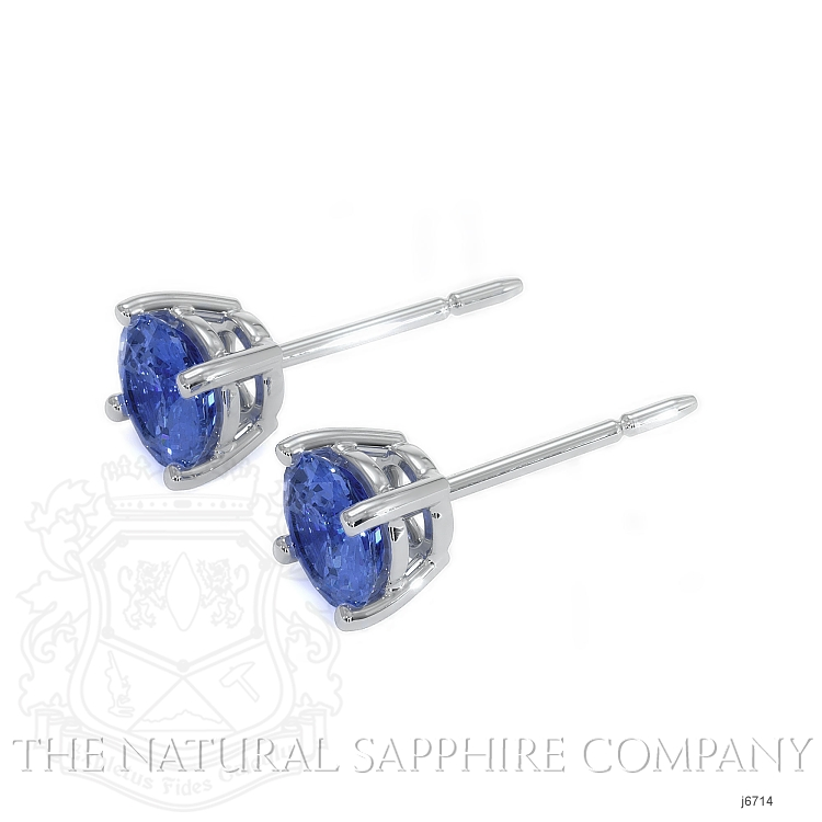 0.60ct Blue Sapphire Earring Image 3
