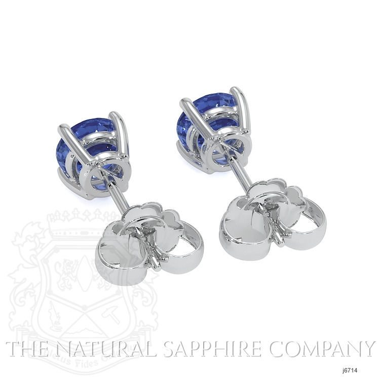 0.60ct Blue Sapphire Earring Image 4
