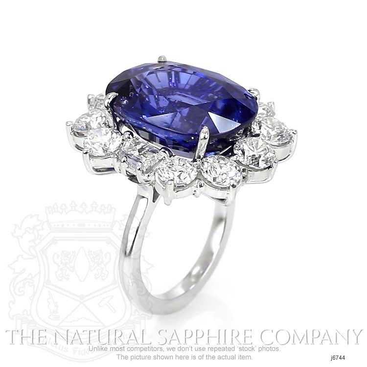 22.42ct Blue Sapphire Ring Image 2
