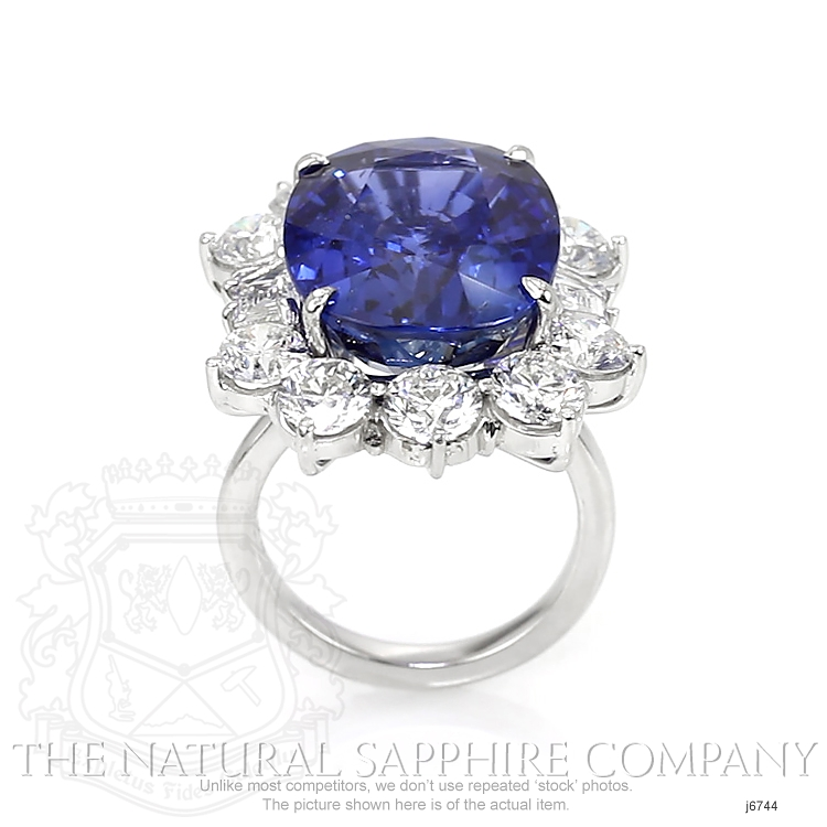 22.42ct Blue Sapphire Ring Image 4