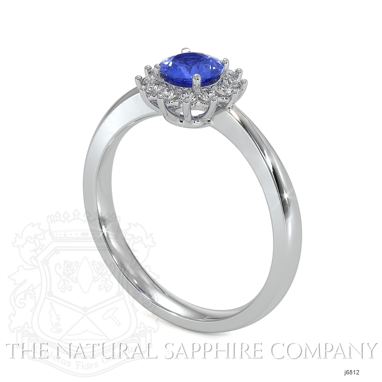 0.50ct Blue Sapphire Ring Image 2