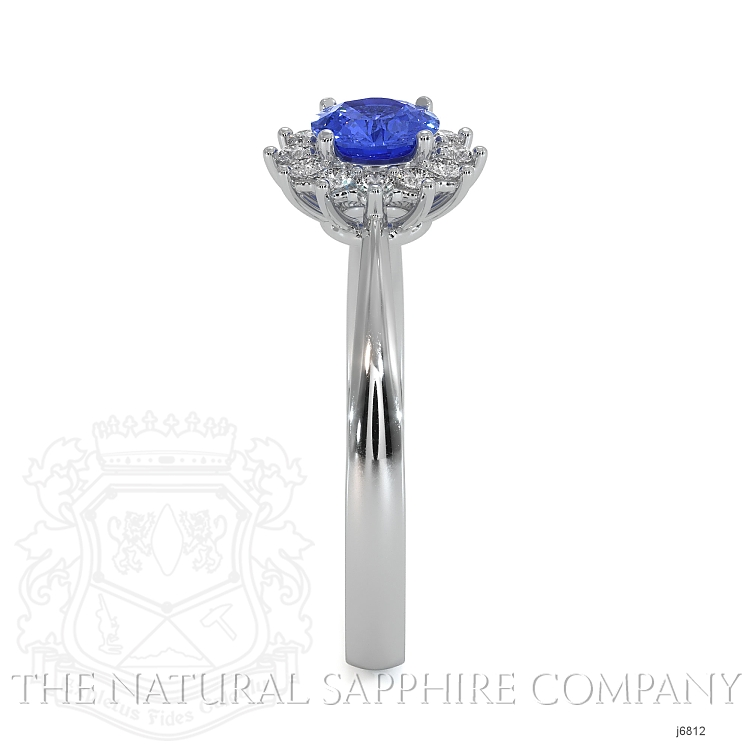 0.50ct Blue Sapphire Ring Image 3