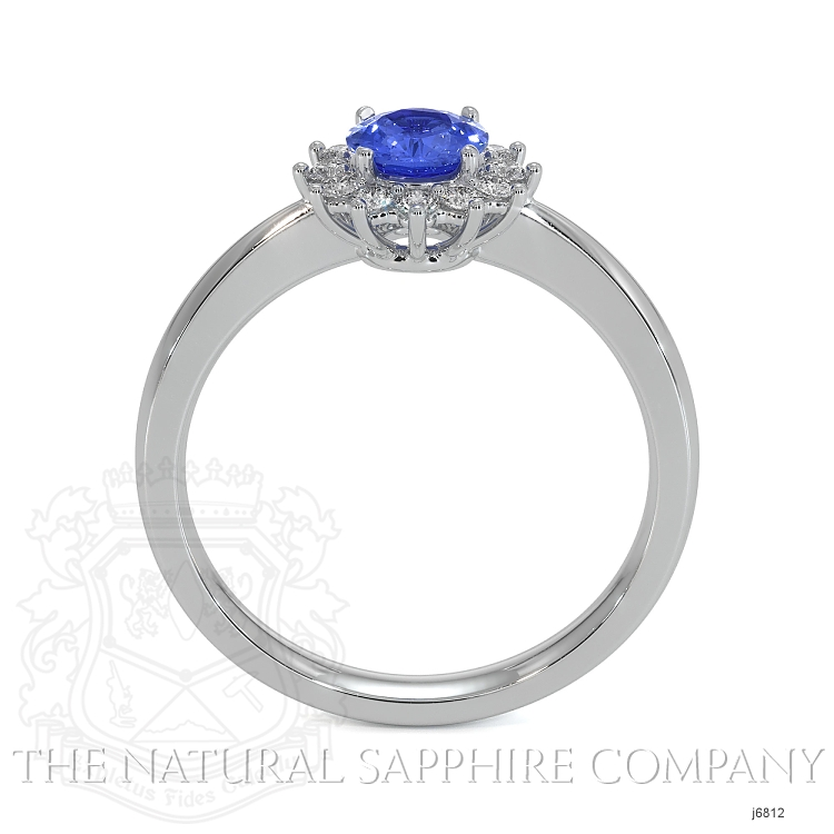 0.50ct Blue Sapphire Ring Image 4