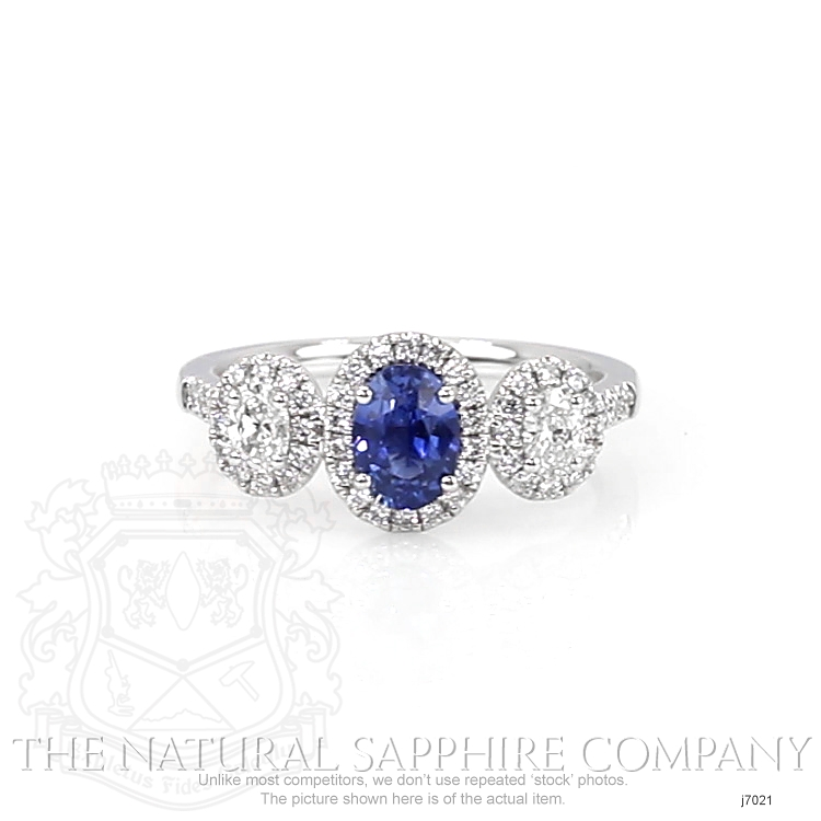 0.82ct Blue Sapphire Ring Image