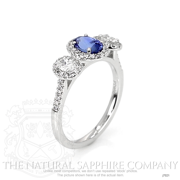 0.82ct Blue Sapphire Ring Image 2