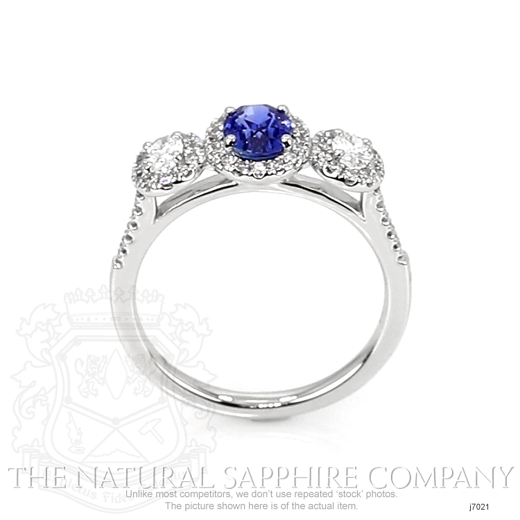 0.82ct Blue Sapphire Ring Image 4