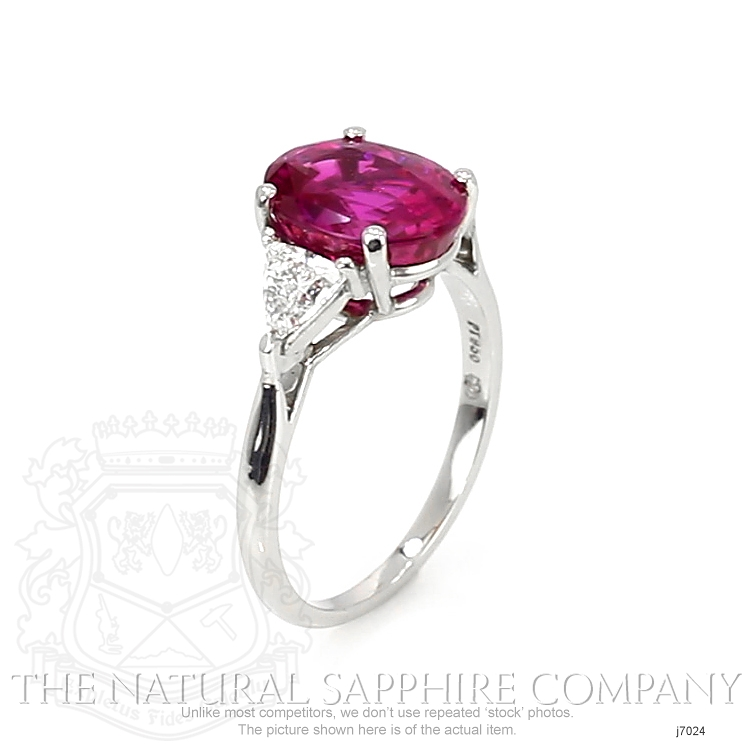 4.36ct Pink Sapphire Ring Image 2
