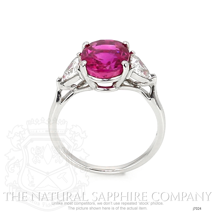 4.36ct Pink Sapphire Ring Image 4
