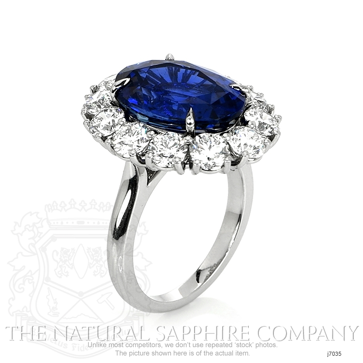 9.64ct Blue Sapphire Ring Image 2