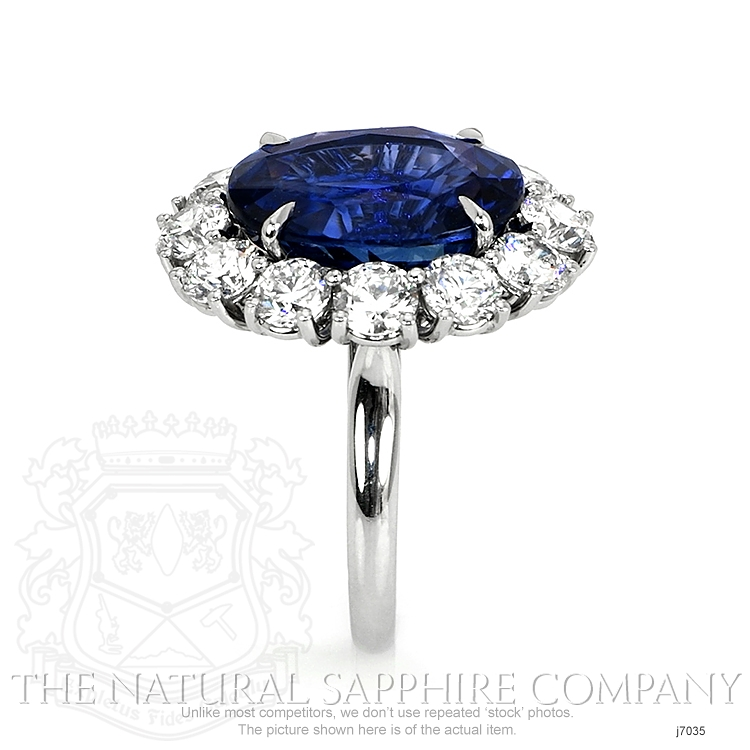9.64ct Blue Sapphire Ring Image 3