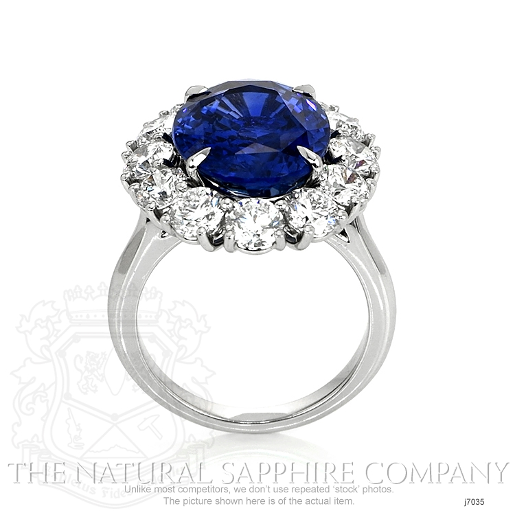 9.64ct Blue Sapphire Ring Image 4