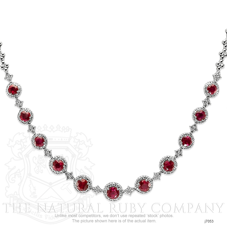 4.51ct Ruby Necklace Image 2