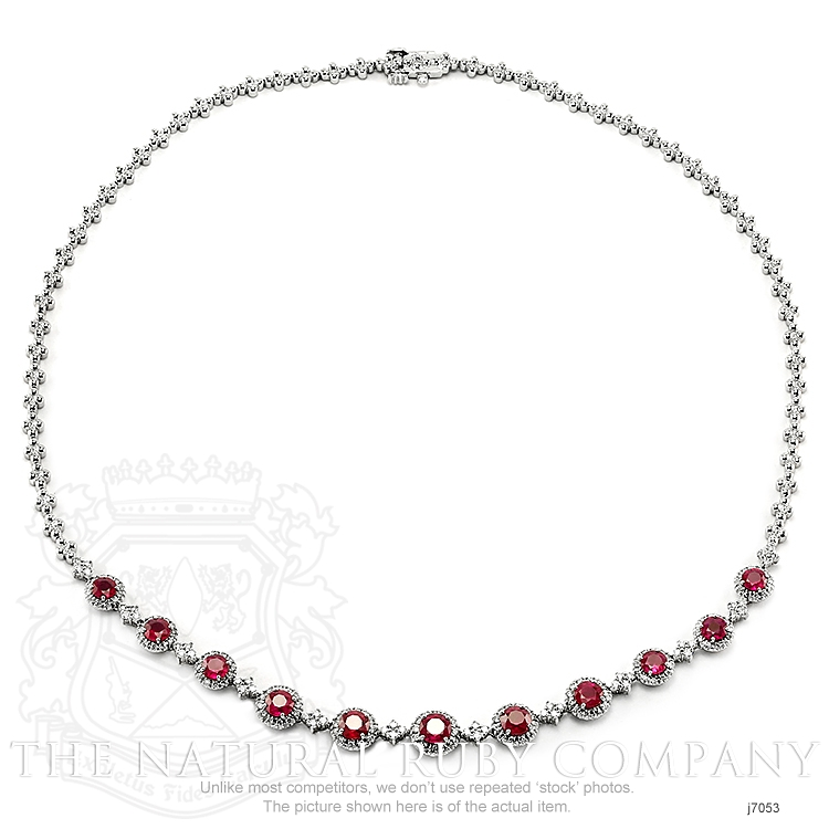 4.51ct Ruby Necklace Image 3