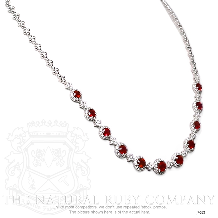 4.51ct Ruby Necklace Image 4