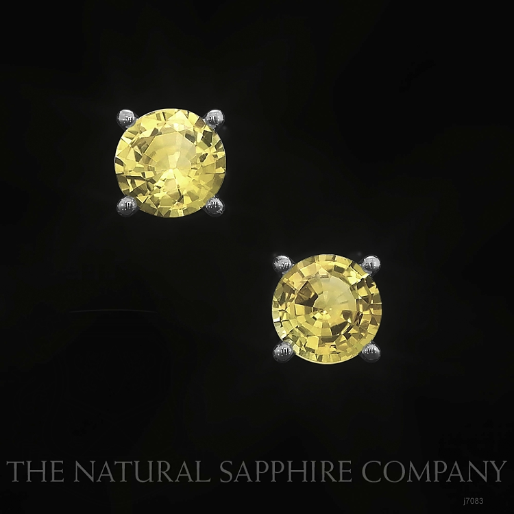 0.95ct Yellow Sapphire Earring Image