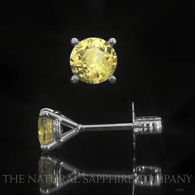 0.95ct Yellow Sapphire Earring Image 2