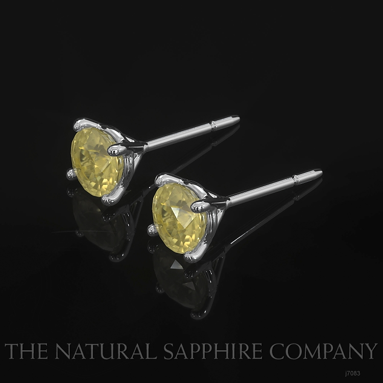 0.95ct Yellow Sapphire Earring Image 3