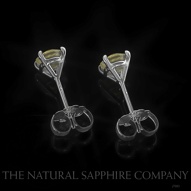 0.95ct Yellow Sapphire Earring Image 4